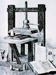 who invented the printing press